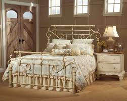 white wrought iron furniture. image of white wrought iron bed side table furniture