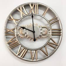 metal wall clock modern design creative