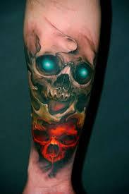 Tatuaggi Uomo Con Teschio Foto Qnm