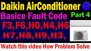 daikin ac error code show how this type