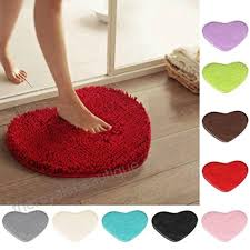 area rugs keepwin cute heart shape non slip fluffy gy carpet rug for living room