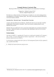 Business Continuity Plan Template Tristarhomecareinc Yal Cmerge