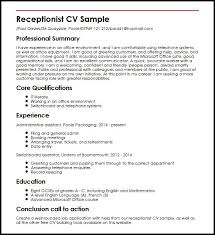 Medical Receptionist Resume Template Front Desk Free For All Best
