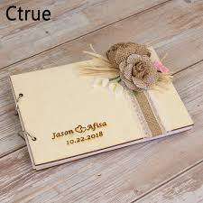 Sign Book For Wedding 2019 Wooden Personalized Wedding Guest Book Wedding Guestbook Custom Name Sign Book Rustic Wedding Decoration Photo Album From Youerwedding 30 36