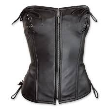 vance leathers women s top laced black leather corset