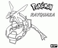 Sweet Rayquaza Coloring Pages A Pok Mon Page Printable Game Ex