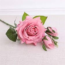 YINGYOUYHD Single Branch 3 <b>Moisturizing</b> Feel <b>Rose</b> Home ...