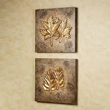 Wall Art Design Ideas, Simple Gold Leaf Wall Art Combination Nice Great  Themes Wallpaper Shadow