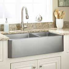 36 hazelton 60 40 offset double bowl stainless steel farmhouse sink