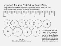 Paper Ring Size Chart Sizer Printable Ring Size Chart Printable Ring Size Chart Pdf