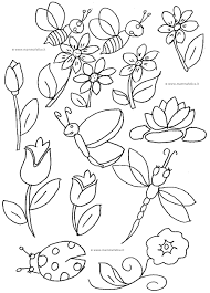 Disegni Da Colorare La Primavera Mamma Felice Con Immagini Primavera