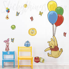 winnie the pooh decal in a playroom