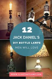 diy lighting ideas. DIY Man Cave Lighting Ideas: Jack Daniel\u0027s Whiskey Bottle Lamps Diy Ideas