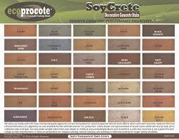 Concrete Stain Chart Color Charts