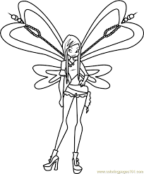 Small Picture Roxy Winx Club Coloring Page Free Winx Club Coloring Pages
