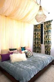 Canopy Above Bed Medium Size Of Curtain Curtains Privacy Wrought ...