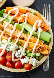 buffalo en salad with y ranch dressing everything you love about buffalo wings without any