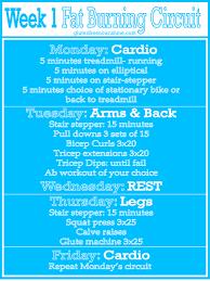 beginners fat burning workout curcuit week 1
