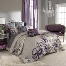 Elegant Purple And Grey Bedroom   By Keeping The Walls A Neutral Grey You Can Add  Colour And Pattern In The Bed Linen And Accessory Throw Cushions.