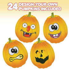 Design Your Own Pumpkin Artcreativity Make Your Own Jack O Lantern Face Sticker Set 24 Sheets Customizable Halloween Stickers For Kids Fun Crafts Classroom Activity