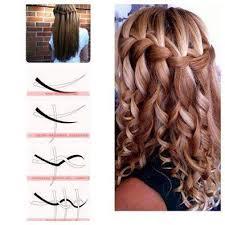 Hairstyle Waterfall diy lovely waterfall braid hairstyle 2445 by stevesalt.us