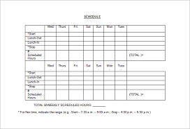 week time schedule template employee work schedule template 16 free word excel pdf format