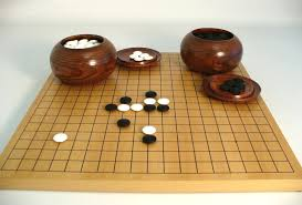 Wooden Board Game With Stones