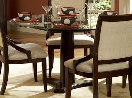furniture dining room round glass top dining table varnished wood dining table with round