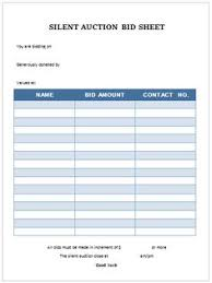 silent auction program template silent auction bid sheet carbon copy silent auction bid sheet