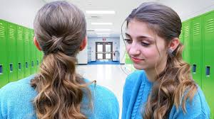 Pony Tail Hair Style criss cross ponytail hairstyle hairstyles for school youtube 7495 by wearticles.com