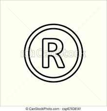 Registered Symbol Registered Trademark Symbol Vector Illustration Flat Design