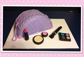 purple makeup bag cake