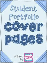 Cover Page For Portfolio Classroom Freebies Too Student Portfolio Cover Pages