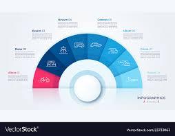 Modern Chart Design Circle Chart Design Modern Template For