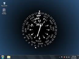 desktop clock wallpaper