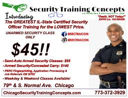 security officer employment training chicago il