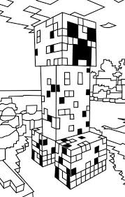 Kleurplaat Minecraft Portal