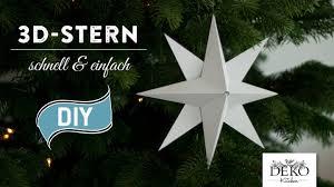Sterne Basteln 3d Weihnachtsstern Einfach Schnell How To