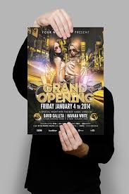 All Sizes Grand Opening Luxury Night Party Flyer Poster