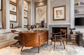 home office designs. traditional travel-inspired office home designs