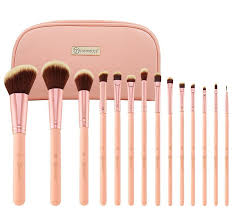 bh cosmetics 14 piece brush set with cosmetic case
