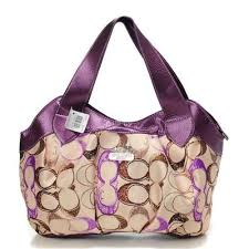 Cheap And Fashion Coach Legacy Logo In Signature Medium Purple Hobo BPO Are  Here!
