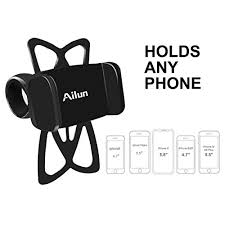 Ailun <b>Mountain Bike Silicone</b> Strap Phone Mount Holder ...