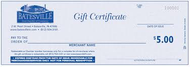 Gift Certificates For Your Business Gift Certificates Batesville Area Chamber Of Commerce