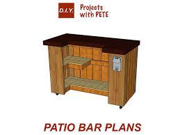 diy bar plans how plans l patio66