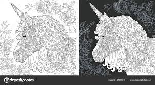 Eenhoorn Kleurplaat Kleurboek Kleuren Foto Met Fantasie Paard
