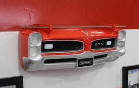 sunbelt 1966 pontiac gto painted red resin wall decor with shelf lights 7580 85