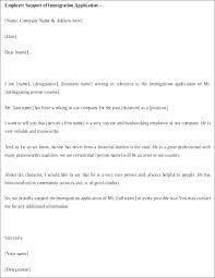 Immigration Reference Letter Samples Putasgae Info