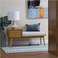 telephone hall table. Entry Way Bench Mid Century Modern Hall Telephone Table Storage Wood Upholstered L