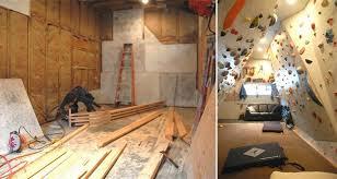 own indoor rock climbing wall